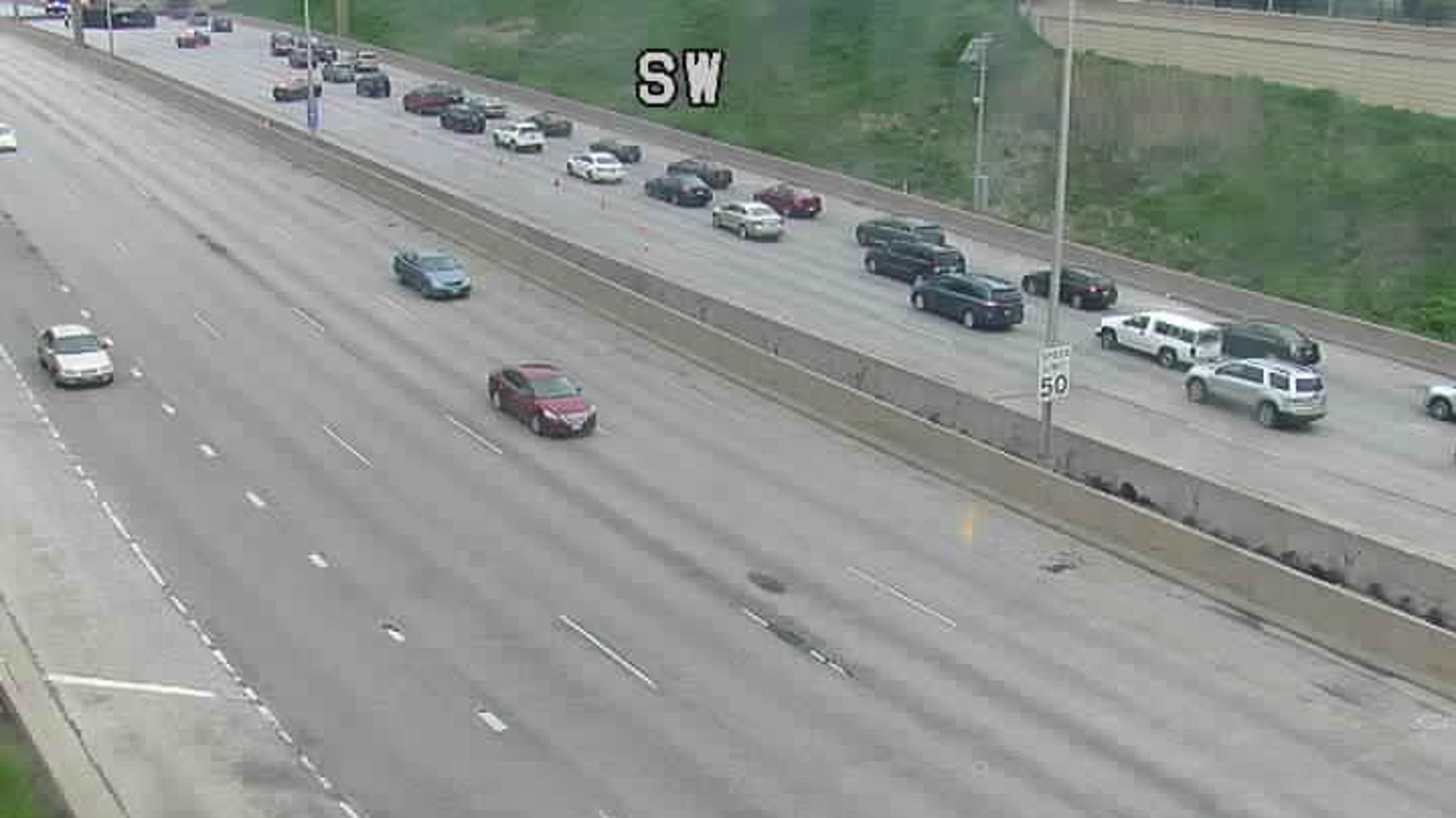 I-43 southbound lanes reopened at Wells St  in Milwaukee