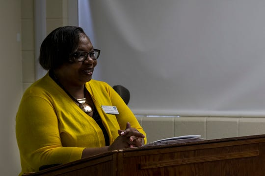Mrs. Eddie Miles, a training instructor with the Fort Benning Casualty Assistance Center speaks with Soldiers from the 335th Signal Command (Theater) during a Casualty Notification and Casualty Assistance class held at the headquarters in East Point, Georgia, June 13, 2019. Miles certified 10 U.S. Army and Army Reserve Soldiers to serve as Casualty Notification and Casualty Assistance Officers during a three-day class at the 335th Signal Command (Theater) Headquarters in East Point June 12-14.