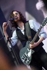 Hozier performs on the What Stage on Saturday, June 15, 2019 during the Bonnaroo Music and Arts Festival in Manchester, Tenn. The Australian artist will headline the Friday night segment of the XPoNential Music Festival in Camden.