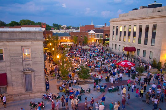 The crowd enjoys the music during one of Gallatin's Third Thursday concerts. The next event is June 20. Admission is free.
