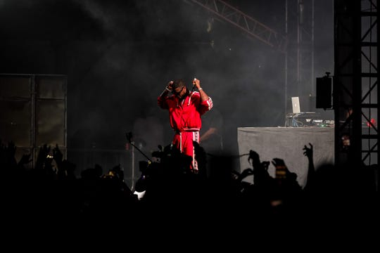 Gucci Mane performs at Bonnaroo's This Tent June 16 in Manchester, Tenn.
