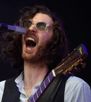 Hozier performs on the What Stage on Saturday, June 15, 2019 during the Bonnaroo Music and Arts Festival in Manchester, Tenn.