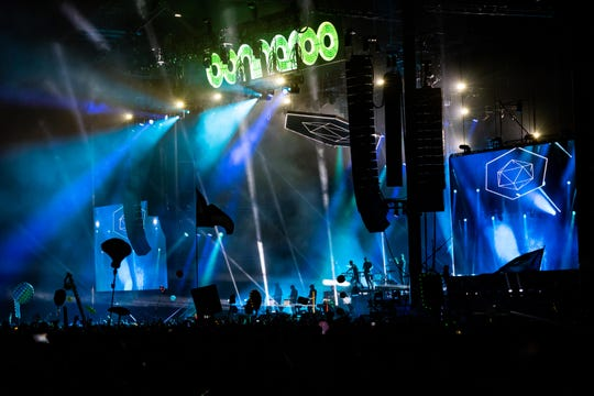 Odesza performs at Bonnaroo's What Stage June 15 in Manchester, Tenn.