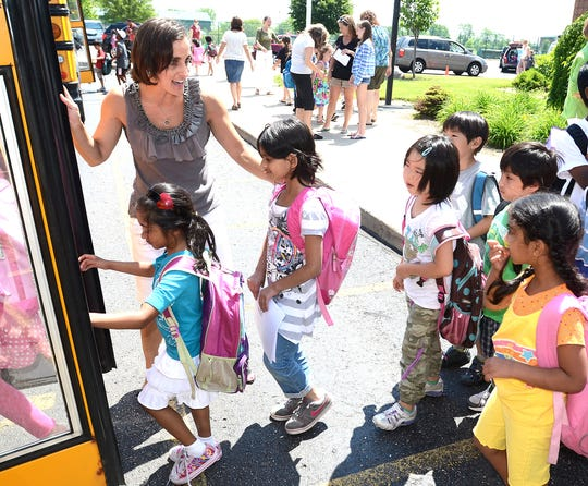Parkview Elementary School, pictured, is part of the Novi district, one of the few in the state to show steady growth over time.