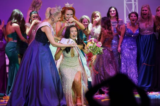 Miss Rock River Valley Alyssa Bohm is crowned Miss Wisconsin 2019 at the conclusion of the 2019 Miss Wisconsin Scholarship Competition in Oshkosh.