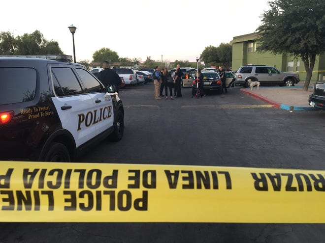 Tucson police investigate a fatal police shooting that left one armed suspect dead on June 16, 2019.