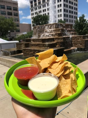 Downtown and food festivals just seem to go together.