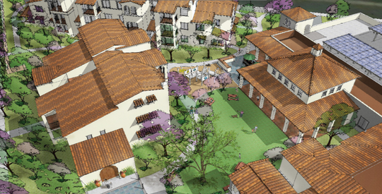 This is a conceptual design for the 2800 Barry St. project in Camarillo. At the site, about 60 units of affordable housing are being built by Many Mansions, Habitat for Humanity and the Area Housing Authority of the County of Ventura.