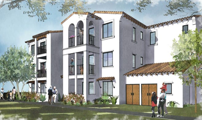 This is a conceptual design for the Somis Ranch farmworker housing project, an affordable development under review in the area of Somis Road near the Camarillo Library.