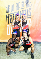 North Rockland shuttle hurdle relay 2019 All-Americans (clockwise from back row) Grant Romanoff, Ryan Curtis, Jared Fiscus and Emmanuel Joseph.