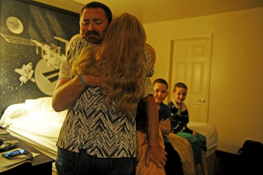 Acie Burleson is surprised by his family for Father's Day Saturday, June 15, 2019, at the Super 8 Motel in Vernon.