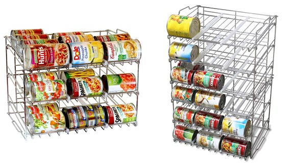 Cans are easier to find with these racks.