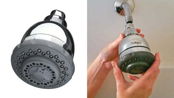 This showerhead can help improve water pressure and quality.