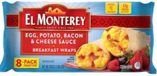 Ruiz Foods Products Inc. has recalled nearly 250,000 pounds of frozen breakfast wrap products containing bacon that may be contaminated with extraneous materials.
