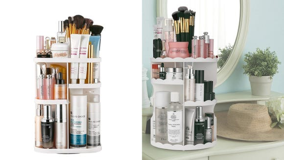 Organize makeup easily with this 360-degree rotating organizer.