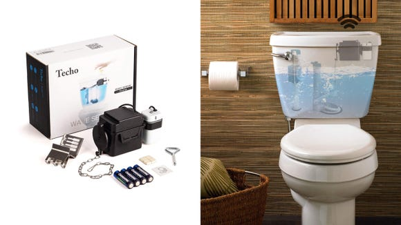 Touchless toilet flusher? Total game-changer.