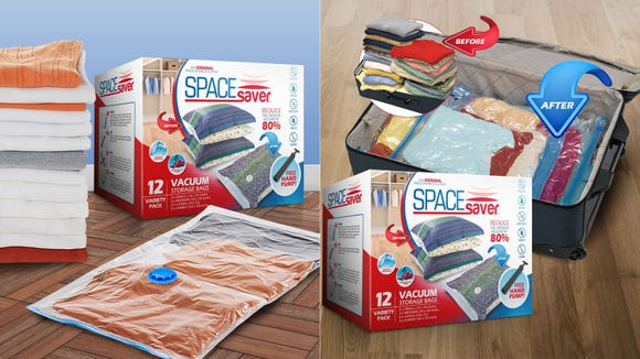 Short on storage space? These vacuum-sealed bags can help.