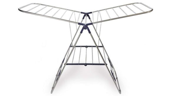 This steel rack is an innovative option for air drying clothes.