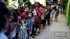 Migrant children in Tapachula, Mexico.
