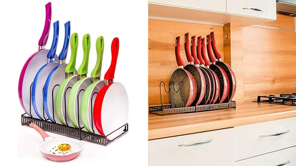 Pull out the pot or pan you need the first time using this rack.