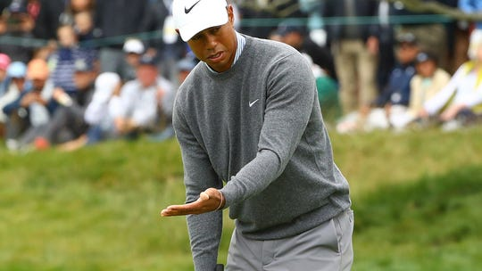 Tiger Woods falls out of U.S. Open contention after shooting 71 at Pebble Beach