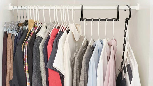 These hooks help give you more closet space.
