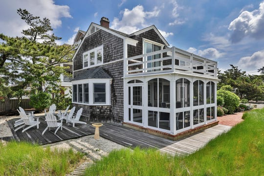 This Mantoloking home at 1312 Bay Avenue offer panoramic views of the bay