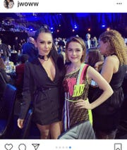 "Jenni ""JWoww"" Farley and  Kiernan Shipka at the MTV Movie and TV Awards, Saturday, June 17."