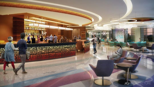 The new hotel at FireKeepers Casino Hotel will have a new bar and VIP lounge for rewards club members.