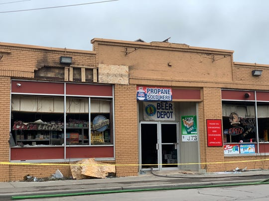 A fire broke out early Monday morning at Lanes Wine & Spirits on Main Street in Binghamton