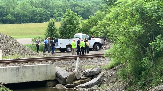 Authorities were on the scene after a plane crashed near Tri Cities Airport in Endicott on June 17, 2019.