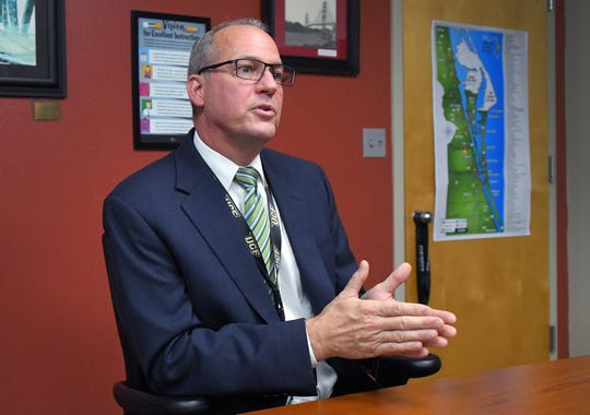 Brevard County School District Superintendent Mark Mullins interviewed in his office in Viera about the proposed pay increase for teachers.