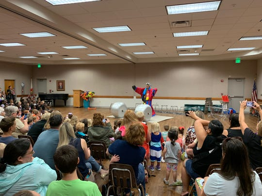 Special events are popular during the summer at te county's libraries, including the Menestrelli Dog Show, the jolly circus poodles from Orlando.