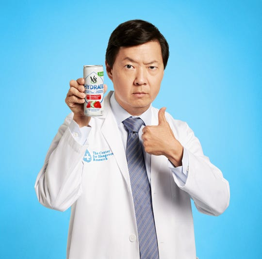 Actor Ken Jeong, who's also a medical doctor, plays the head of Campbell Soup Co.'s fictitious Center for Hangover Research.