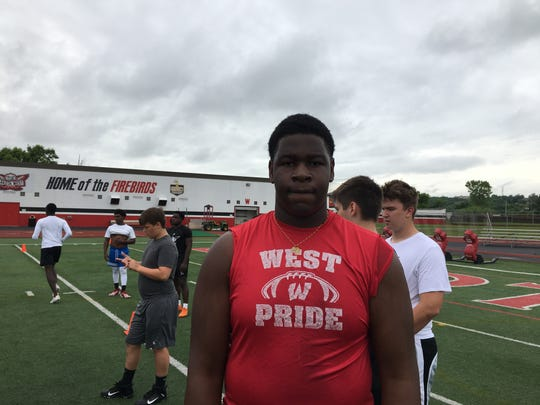 Tegra Tshabola is a mammoth offensive lineman who is just a sophomore at Lakota West