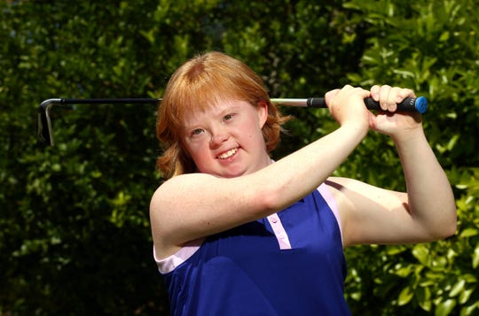 Amy Bockerstette, a 20-year-old golfer with Down syndrome on May 13, 2019 in Phoenix, Ariz.