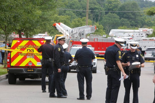 Cincinnati police and fire crews responded to Mt. Airy Monday afternoon after a city worker died after coming in contact with an electrical line.