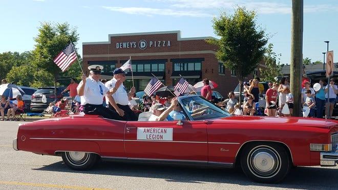Participants at a previous July 4 parade.