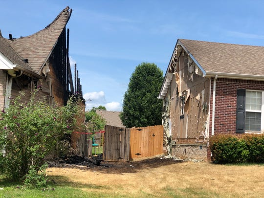 Two homes on Oak Creek Drive in Clarksville were damaged by a fire on June 15, 2019.