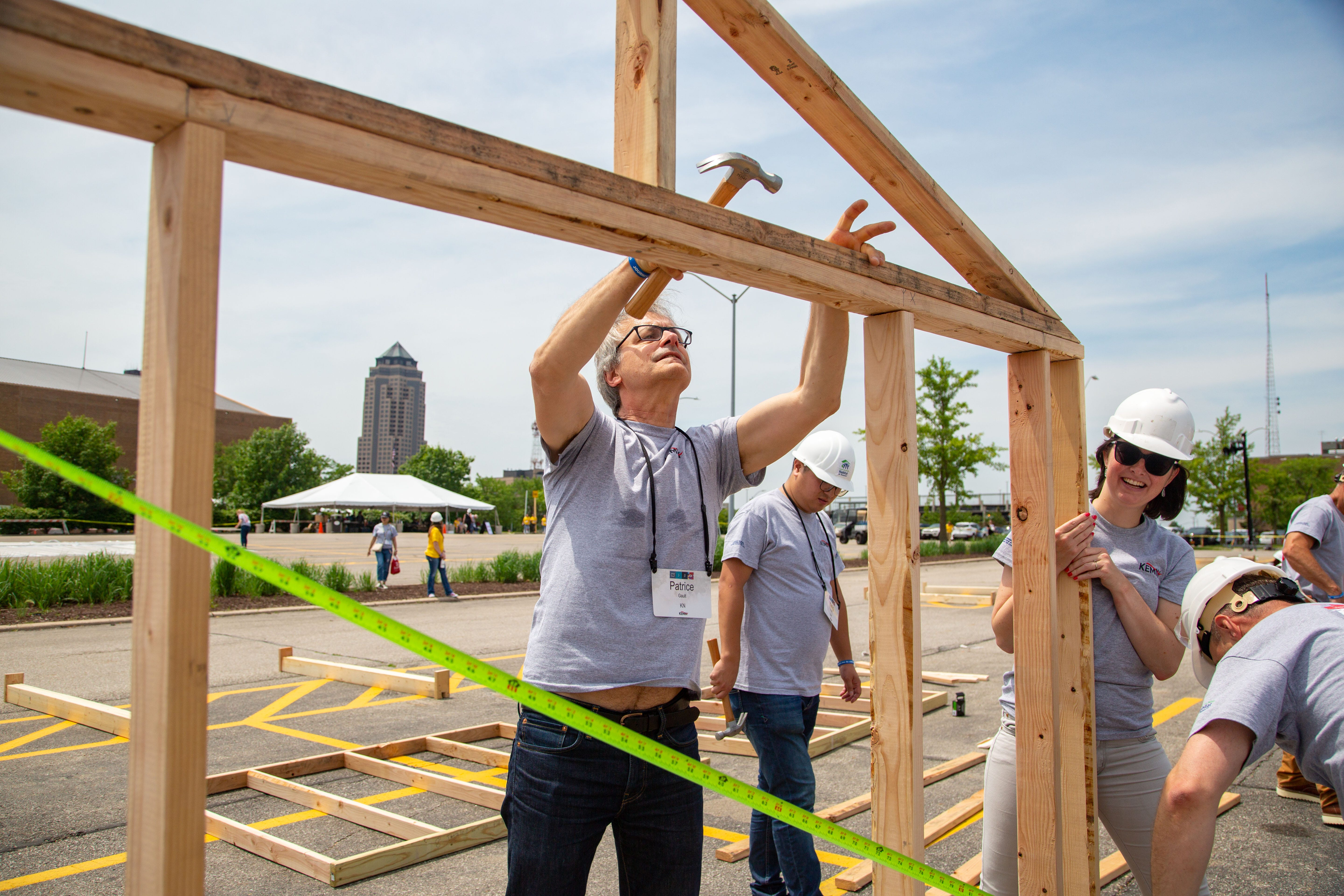 Photos: Kemin employees team up for massive Habitat for Humanity build