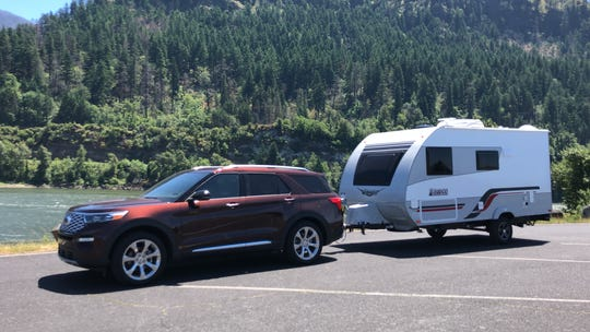 The 2020 Ford Explorer can tow up to 5,600 pounds.