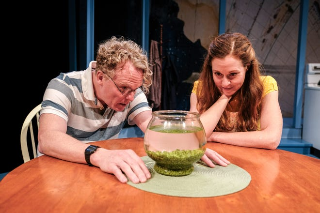 """Daniel Pearce and Claire Karpen starred in the 2018 world premiere of """"Birthday Candles"""" at the Detroit Public Theatre. The play is now headed to Broadway, with Debra Messing in the starring role."""