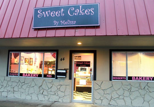 This Feb. 5, 2013, file photo, shows the now closed Sweet Cakes by Melissa in Gresham, Ore.  The Supreme Court is throwing out an Oregon court ruling against bakers who refused to make a wedding cake for a same-sex couple. The move keeps the high-profile case off the court's election-year calendar and orders state judges to take a new look at the dispute between the lesbian couple and the owners of a now-closed bakery.