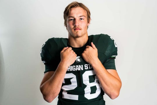 Cal Haladay, an inside linebacker from Pennsylvania, says he'll play football at Michigan State in 2020.