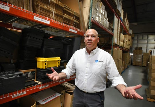 Chris Temple, director of B&W North America in Livonia, said it is much easier for large corporations to bear the cost of tariffs than small businesses. His company makes cases for bikes, outdoor supplies and tools.