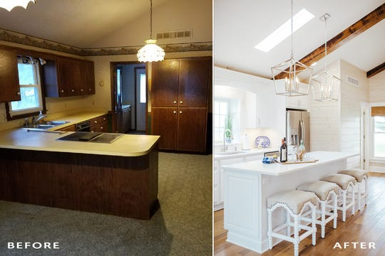 Incorporating wooden beams and skylights into your ceiling adds height and dimension to your space.