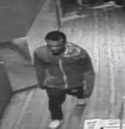 Ferndale police are looking for a man who engaged in lewd behavior in a restaurant at a bar.