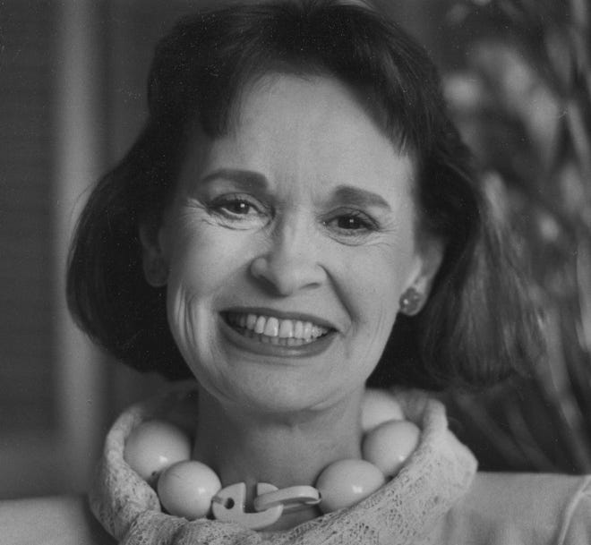 Gloria Vanderbilt, who reigned during the 1970s and '80s as a designer jeans pioneer, is shown in this April 28, 1985, file photo. Vanderbilt died Monday at the age of 95.