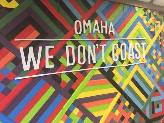 "In Omaha, the branding campaign We Don't Coast was created to exemplify the city's ""never settle"" attitude."
