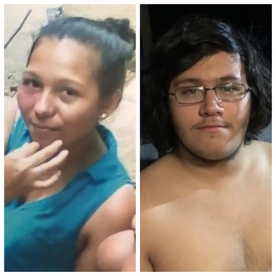 Yessica Doblado Amaya, left, reported missing Sunday, has been located safe. Tyler Block, right, reported missing Sunday in a separate case is still being sought. Both lived in Lehigh Acres.